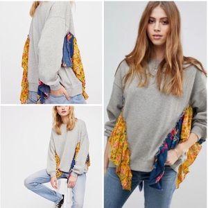 Free People She's Just Cute Pullover Sweatshirt
